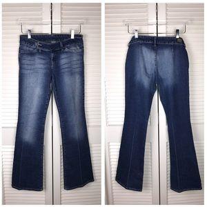 🎬 Mavi Elisa Extended Tab Flare Jeans Dark Wash